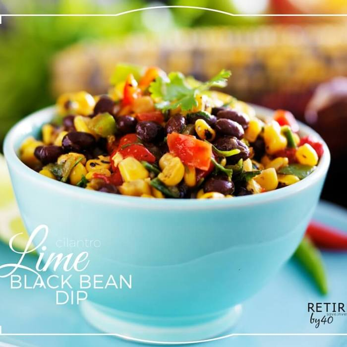 Cilantro Lime Black Bean Dip