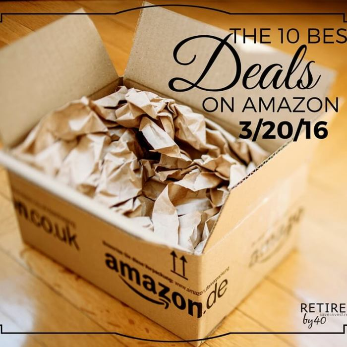 Best Amazon Deals 3/20/16