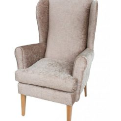 Alisson Orthopedic high seat chair in Darcy soft chenille, www.retiredlifestyle.co.uk , high seat chairs, Fireside Chairs, high back chairs, wingback chair, elderly chairs.