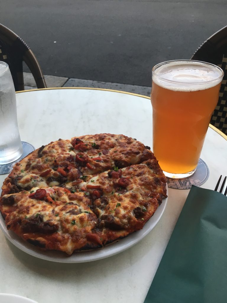 Kangaroo Pizza and a Local Ale