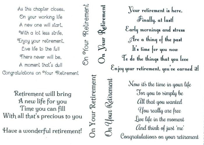 Retirement verses