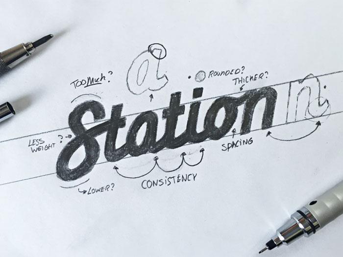 rotulación o lettering