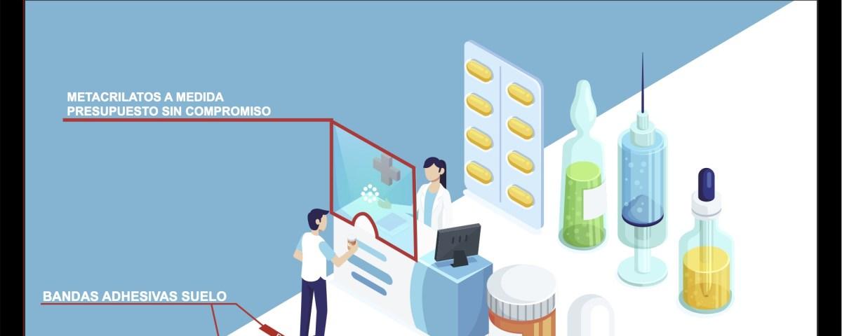 mamparas farmacias
