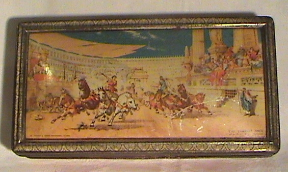 Vintage Biscuit Tin The Chariot Race by Carrs Carr  Co of