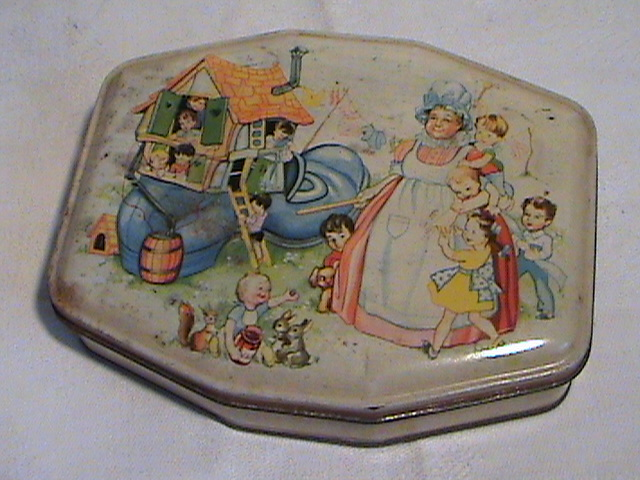 Vintage Horner Sweet Toffee Tin Old Woman who lived in a