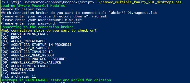 Removing faulty Horizon desktops using PowerCLI – Retouw nl