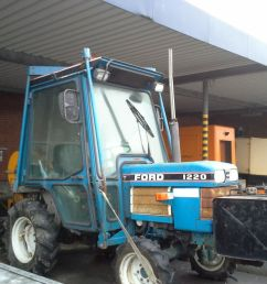 ford 1220 traktor med spil p brenderup tiptrailer ford 1220 tractor with winch on brenderup  [ 1024 x 768 Pixel ]