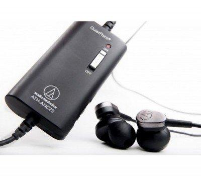 Audio-Technica ATH ANC23 QuietPoint - Headphones active noise canceling earbuds