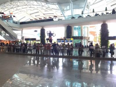 waiting area at bali airport