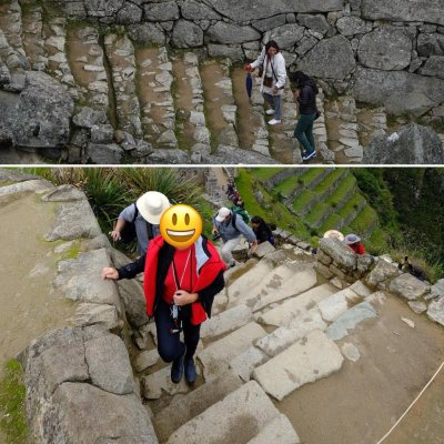 Examples of the stone steps at Machu Picchu