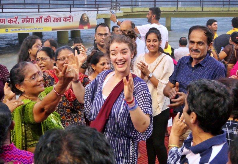Dancing in rishikesh