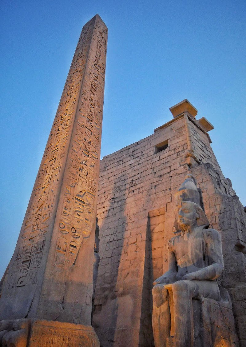 Luxor Temple at dusk