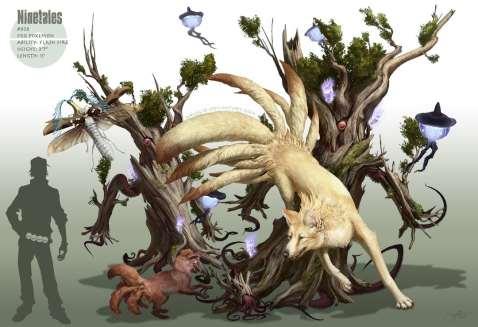 Artwork des Pokémon Feunard et Goupix par Arvalis