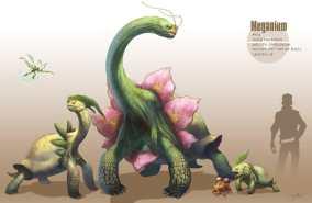 Artwork des Pokémon Meganium, germignon et macronium par Arvalis