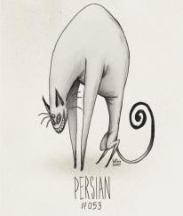 Fanart du Pokémon Persian avec le style de Tim Burton par HatBoy