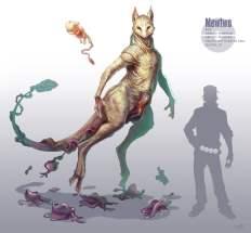 Dessin réaliste des pokemon Mew et Mewtwo