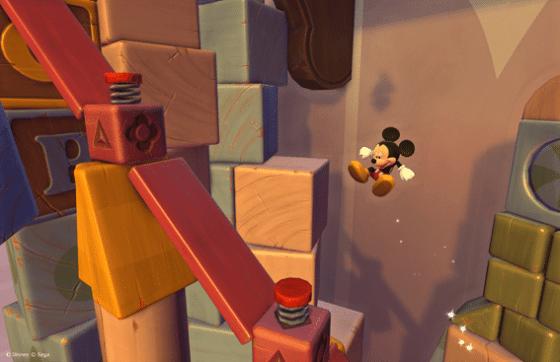 Niveau des cubes dans Castle of Illusion HD sur Xbox 360