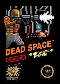 Jaquette de Dead Space style 8 bits sur Nintendo NES