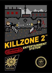 Jaquette de Killzone 2 style 8 bits sur Nintendo NES