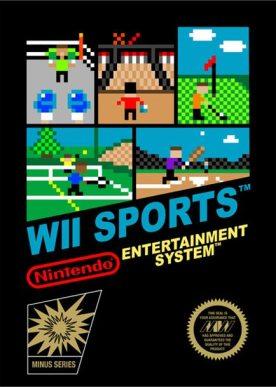 Jaquette de wii sport style 8 bits sur Nintendo NES