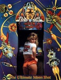 publicité borne arcade moon war jolie fille