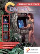 pub magazine pour jeu vidéo COntra en borne arcade