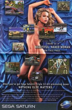 pub avec femme nue pour sega saturn