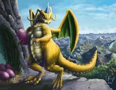 peinture réaliste du dracolosse alakazam par Simon Gangl