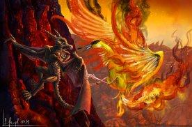 peinture réaliste des pokemon ptera et sulfura par Simon Gangl