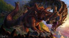 peinture réaliste des pokemon tentacruel et krabboss par Simon Gangl