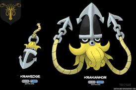 calamar maison greyjoy game of thrones en version pokémon