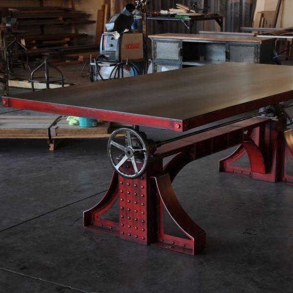 Steampunk Industrial Crank Tables