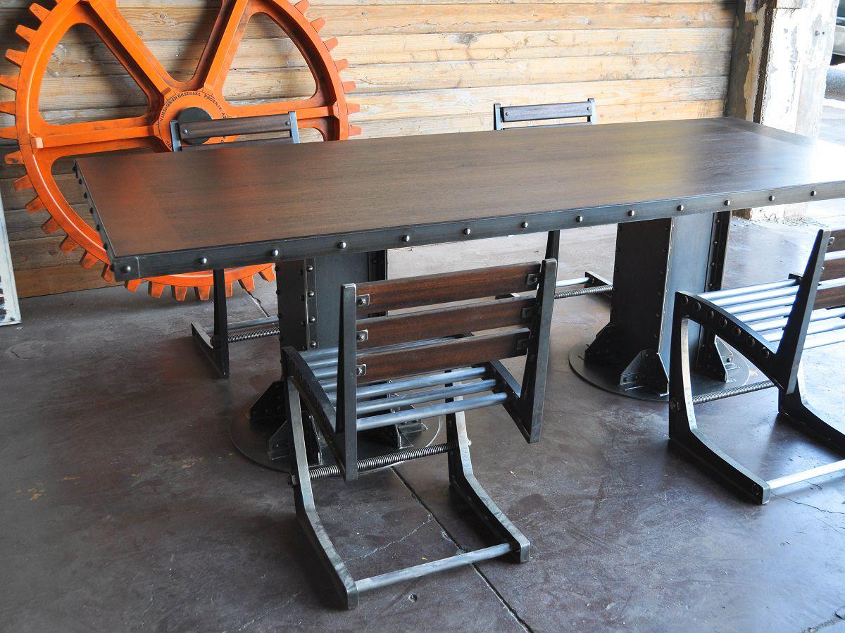 I Beam Dining Table  Vintage Industrial Furniture