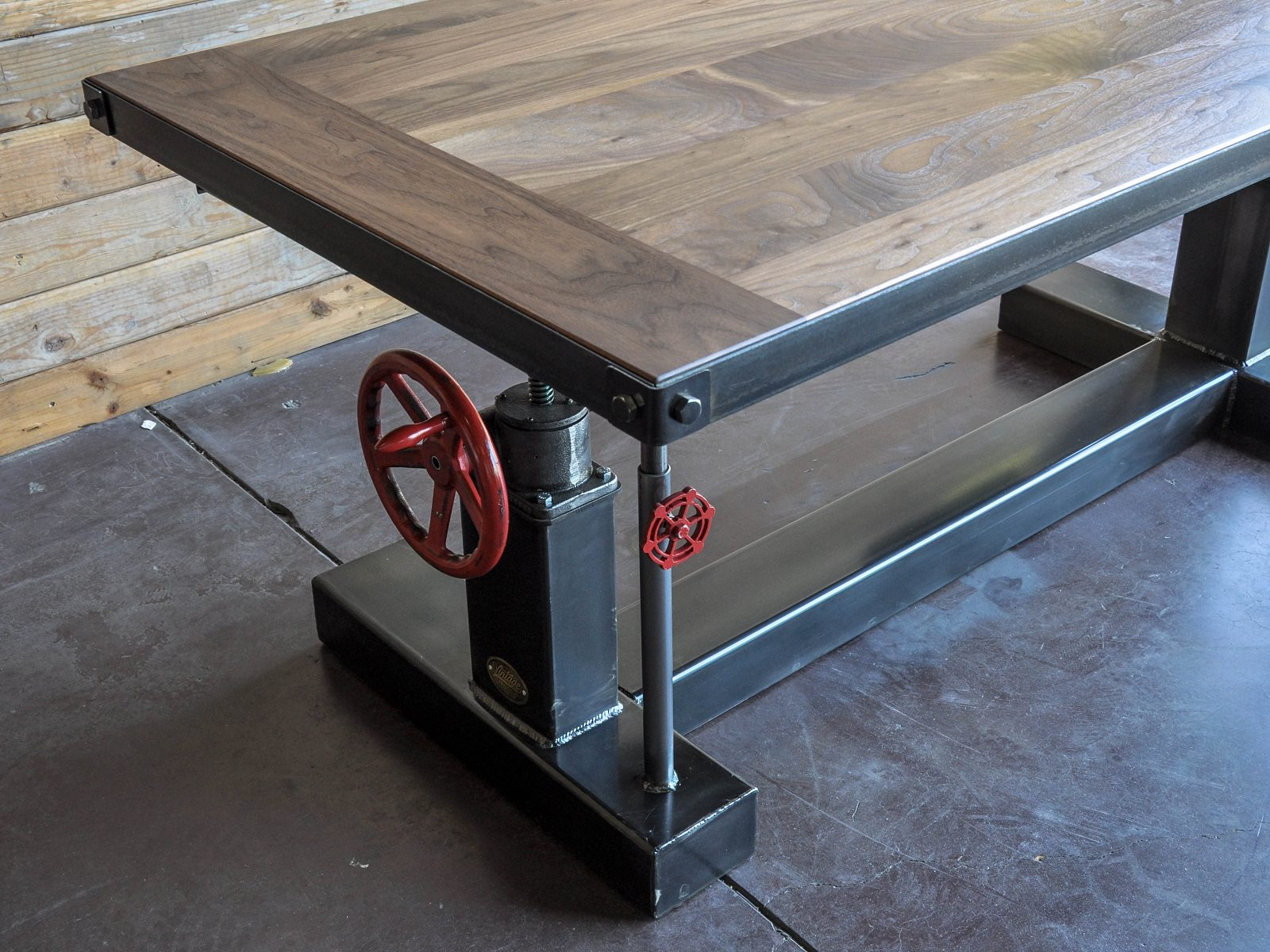 Crank Desk Vintage Industrial Furniture