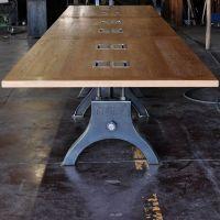 Hure Conference Table   Vintage Industrial Furniture