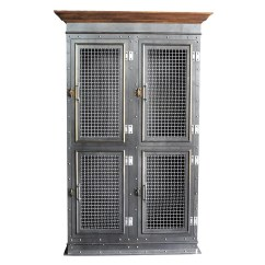 Retro Cafe Table And Chairs Island For Kitchen Vintage Industrial Armoire   Furniture