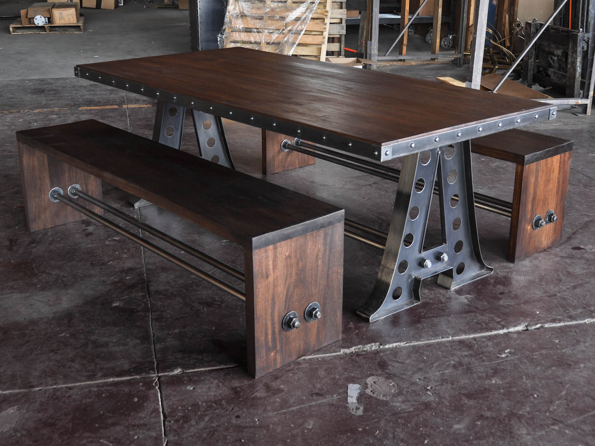 industrial dining table and chairs gci chair accessories a frame vintage furniture