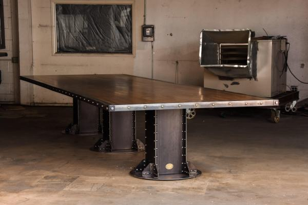Boxcar Beam Conference Table Model # Ib23 Vintage