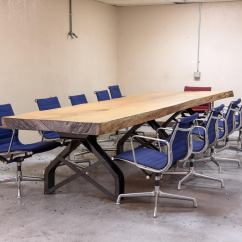 Antique Kitchen Islands For Sale How To Create A Pantry In Small Rouille Live Edge Conference Table | Vintage Industrial ...