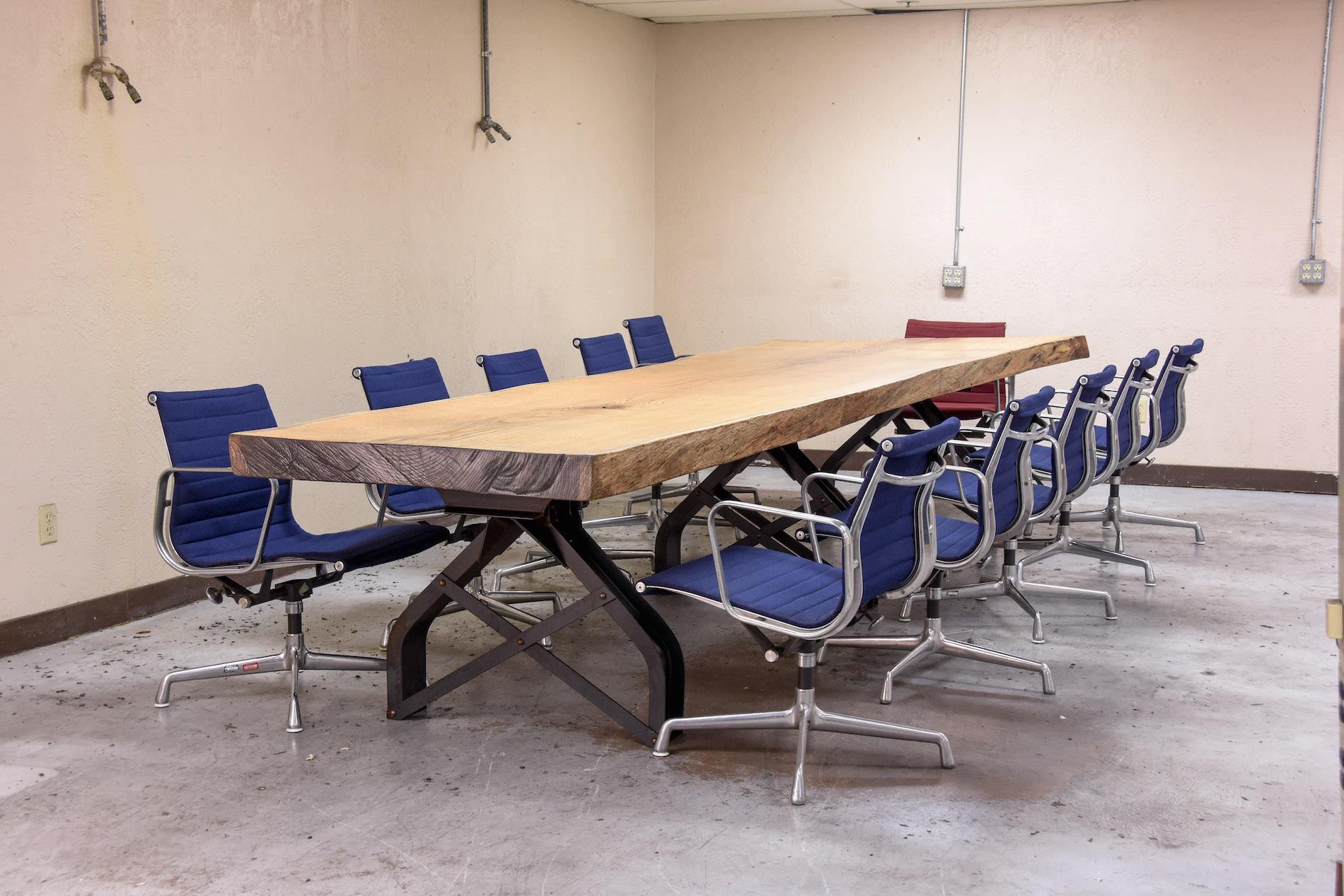 antique kitchen islands for sale jeffrey alexander island rouille live edge conference table   vintage industrial ...