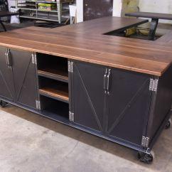 Industrial Kitchen Island Modern Ellis Vintage Furniture