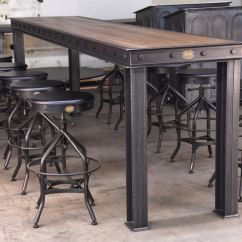Retro Cafe Table And Chairs Wooden Rocking Chair Singapore Firehouse Bar Vintage Industrial Furniture