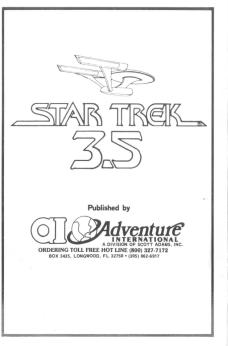 Adventure International Star Trek 3.5
