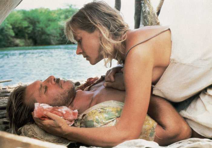 THE MOSQUITO COAST, from left: Harrison Ford, Helen Mirren