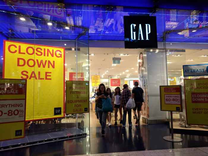 stores closing by the end of 2020