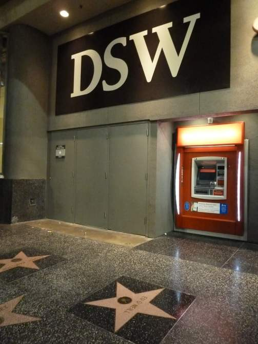 ed o'neill's walk of fame star in front of DSW