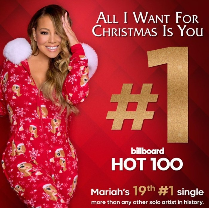 mariah carey all i want for christmas is you billboard hot 100