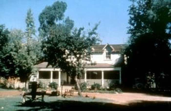 The family home of the shown frequently shot in California