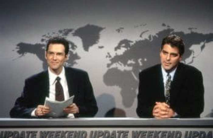Years after Chase, Macdonald became an anchor of Weekend Updates. Pictured: Norm MacDonald, George Clooney