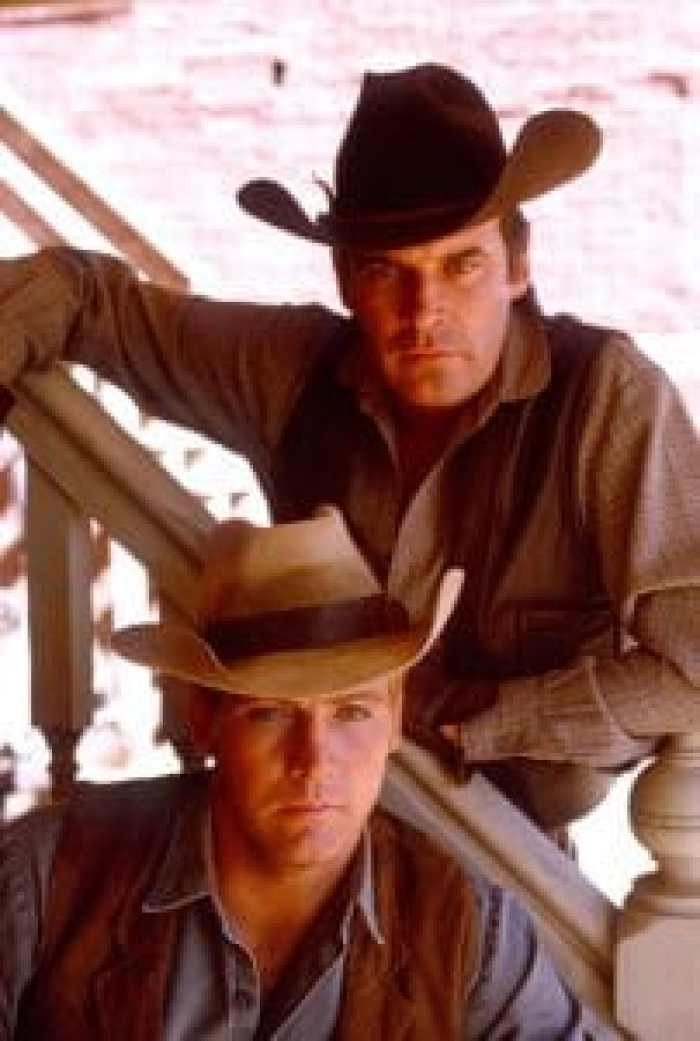 Lee Majors with Peter Breck in his first claim to fame, The Big Valley